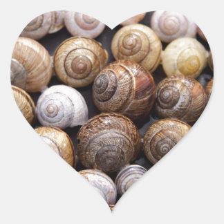Snail Shells Heart Sticker