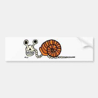 Snail Skeleton Bumper Sticker