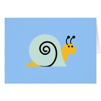 Snail Slugs Gastropoda Cute Cartoon Animal Card