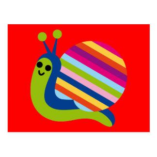 Snail Slugs Gastropoda Cute Cartoon Animal Postcard