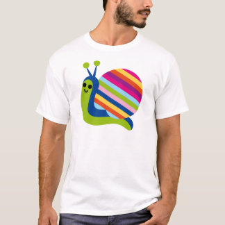Snail Slugs Gastropoda Cute Cartoon Animal T-Shirt