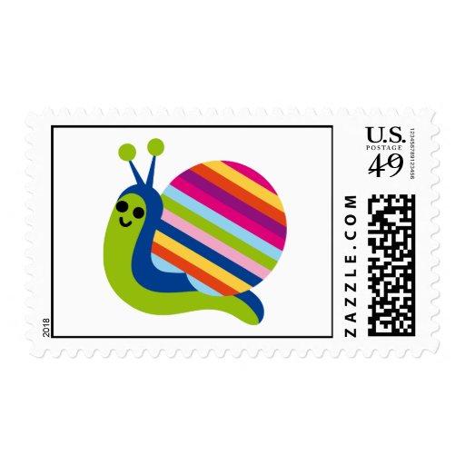 Snail Snails Slugs Gastropoda Cute Cartoon Animal Postage Stamp