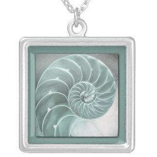 Snail Square Pendant Necklace