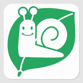 Snail Square Sticker