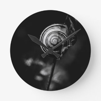 snail tail round clock