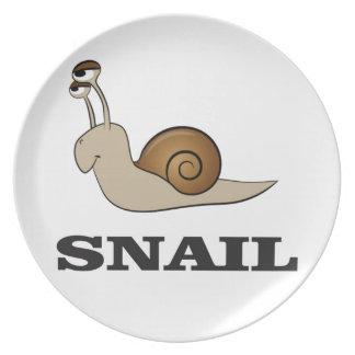 snail tale plate