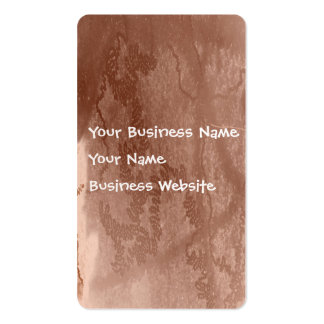 Snail trail on brown bark texture business cards