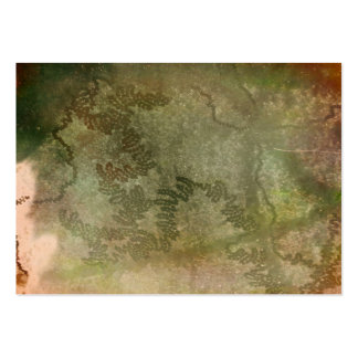 Snail trails on green and pink bark texture business card template