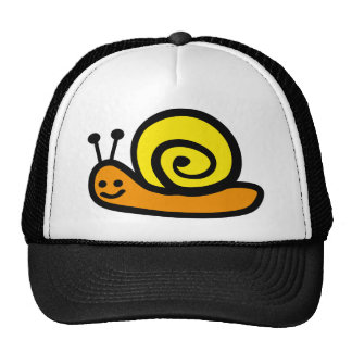 snail trucker hat