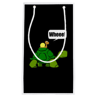 Snail Turtle Ride Small Gift Bag