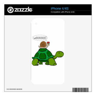 Snail & Turtle - Turbo Duo Decals For iPhone 4S