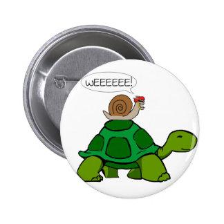 Snail & Turtle - Turbo Duo Pinback Button