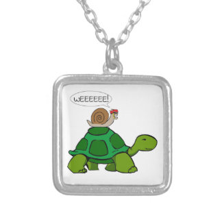 Snail & Turtle - Turbo Duo Silver Plated Necklace