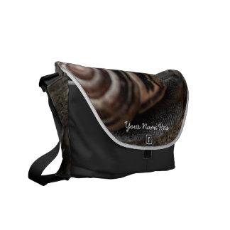 Snail Up Close Messenger Bags