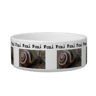 Snail Up Close Cat Bowl