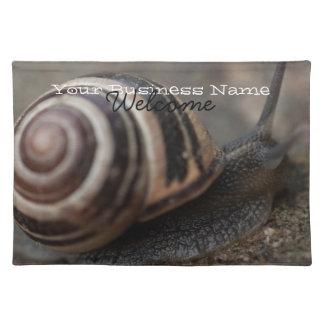Snail Up Close; Promotional Cloth Placemat