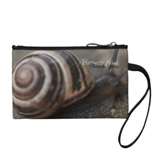 Snail Up Close; Promotional Coin Wallet