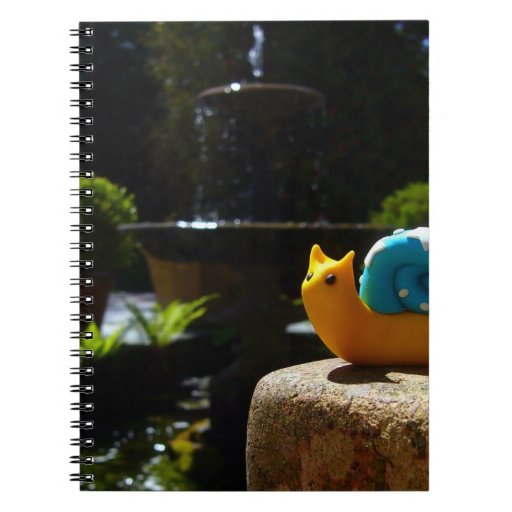 Snail visits fountain in English Garden Spiral Note Books