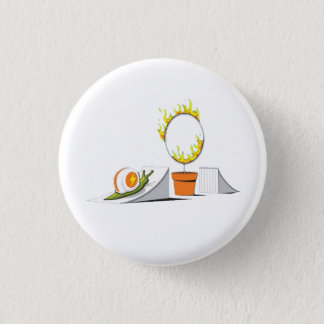 Snail vs Ring of Fire Pinback Button
