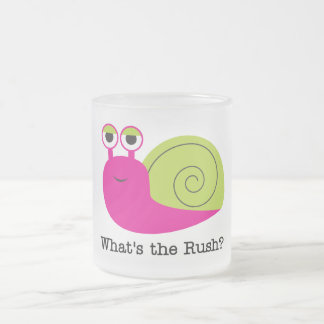 Snail What's the Rush Tshirts and Gifts 10 Oz Frosted Glass Coffee Mug