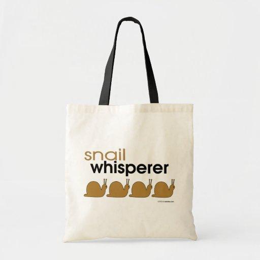 Snail Whisperer Canvas Bags