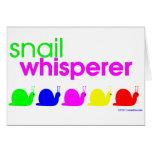 Snail Whisperer Greeting Card