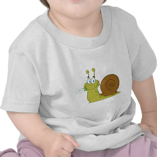 Snail With A Flower In Its Mouth Tees