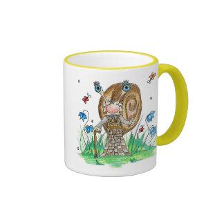 Snail with a Stick Coffee Mugs