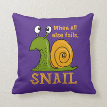 Snailing, when all else fails (EditableBackground) Throw Pillow