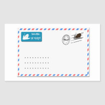 Snailmail with copy space for addresses rectangular sticker