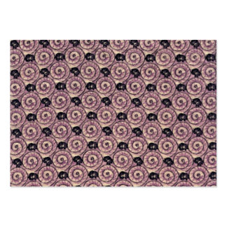 Snails and Flowers Mauve Purple Business Card Template