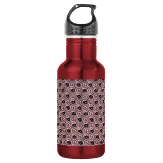 Snails and Flowers Mauve Purple Stainless Steel Water Bottle