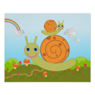 snails and mushrooms posters