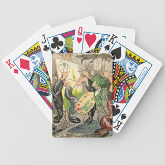 Snails and Toad Art Gallery Bicycle Playing Cards