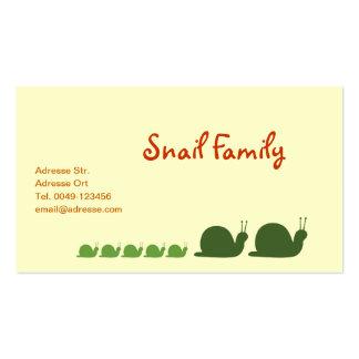 Snails Business Card Templates