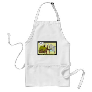 Snails Getting Email Funny Cartoon Gifts & Tees Adult Apron