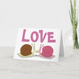 Snails In Love Greeting Card card