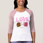 Snails In Love Ladies 3/4 Sleeve Raglan (Fitted) T-Shirt