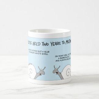 Snails maturing coffee mug