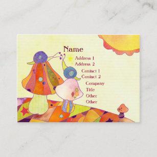 Care child business cards templates zazzle snails on mushrooms childcare business cards colourmoves
