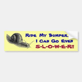 Snail's Pace Bumper Sticker