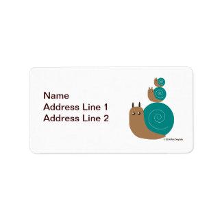Snails Return Address Label