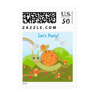 Snails want to have a party! postage