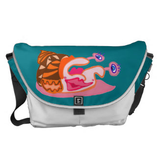 Snaily In The Delly, In Color Messenger Bag