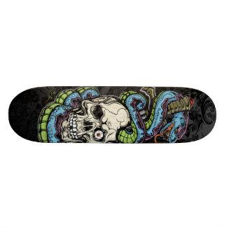 Snak Skull Tattoo Skateboard