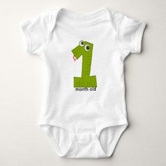 Snake 1 Month Old Baby Bodysuit