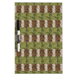 Snake and Alligator print Dry-Erase Boards