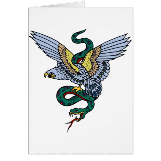 Snake and Eagle Greeting Card