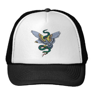 Snake and Eagle Trucker Hat