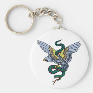 Snake and Eagle Keychain
